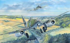 Picture Messerschmitt, The Hawker Tempest, Swallow, Me 262A-1a, Me-262