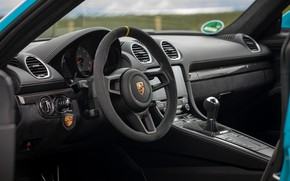 Picture Key, Porsche, Salon, Cayman, The wheel, GT4, 2019, Porsche 718 (982) Cayman GT4