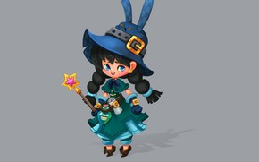 Picture the game, art, character, magic wand, hardware, witch, Smirnоv School, Rikka Desunyaaa