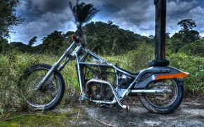 Picture nature, background, motorcycle