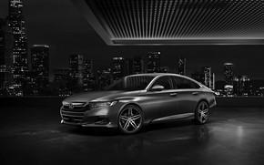 Picture the city, Honda, Accord, sedan, Hybrid, hybrid, Touring, four-door, 2020, 2021