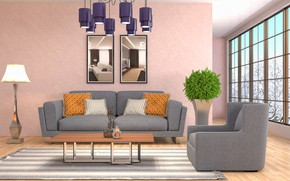 Picture design, style, interior, living room, living room, modern