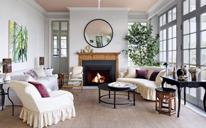 Picture room, interior, fireplace, living room, Seattle home