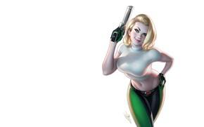 Picture girl, weapons, art, Warren Louw, Danger Girl #1 Gallery Edition