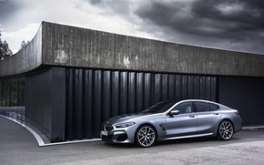 Picture wall, the building, coupe, BMW, Gran Coupe, 8-Series, 2019, the four-door coupe, Eight, G16, leaden …