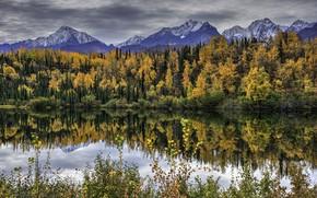 Picture autumn, landscape, mountains