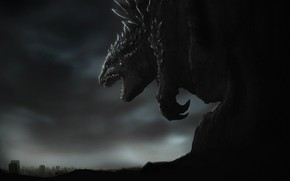 Picture Figure, Monster, Background, Godzilla, Art, Art, Godzilla, Gull, Creatures, by Phil Dragash, Phil Dragash, Godzilla …