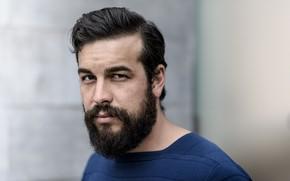 Picture look, male, beard, Mario Casas