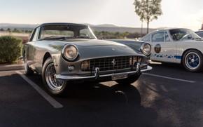 Picture Retro, Silver, Sportcar, Ferrari 330 GT