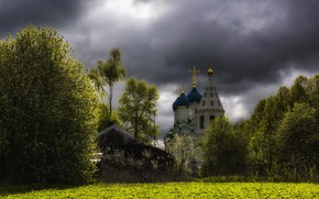 Picture the sky, nature, spring, Church, temple