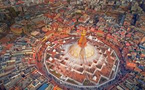 Picture panorama, temple, Nepal, Museum-reserve, Kathmandu, Boudhanath