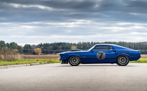 Picture Ford, Wheel, Profile, 1969, Ford Mustang, Drives, Muscle car, Mach 1, Classic car, Sports car, …