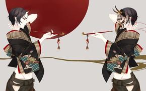 Picture sexy, tube, the demon, art, guy, Hoozuki no Reitetsu, cold-blooded Hozuki