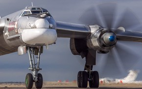Picture strategic bomber-missile carrier, Tu-95MS, The Russian air force, российский турбовинтовой