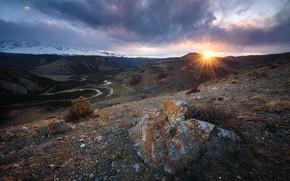 Picture sunset, mountains, Russia, Altai Krai
