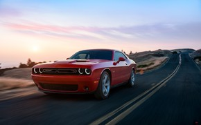 Picture Red, Auto, Road, Machine, Dodge, Challenger, Dodge Challenger, Concept Art, Transport & Vehicles, by Kanishk …
