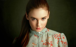 Wallpaper look, girl, hairstyle, Olga Boyko