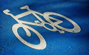 Picture road, bike, sign