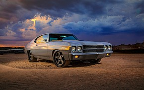 Picture Muscle, Front, Chevelle, Vehicle