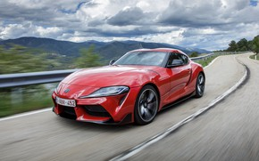 Picture coupe, Toyota, Supra, mountain road, the fifth generation, mk5, double, 2019, GR Above, A90, Gazoo …