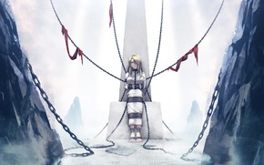 Picture chain, girl., anime, games art, Deep One