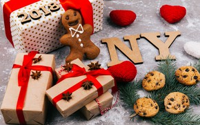 Picture decoration, New Year, cookies, Christmas, gifts, Christmas, New Year, gift, cookies, decoration, Merry