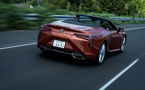 Picture Lexus, convertible, on the road, 2021, LC 500 Convertible