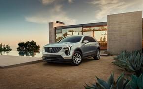 Picture house, transport, plants, car, Cadillac XT4