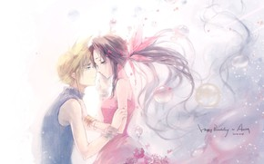 Picture romance, pair, two, Final Fantasy VII