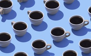 Picture Coffee, Wallpaper, Cups
