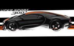 Picture Bugatti, side view, hypercar, Chiron, 2019, Super Sport 300+