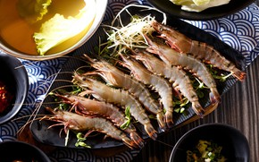 Picture shrimp, seafood, raw