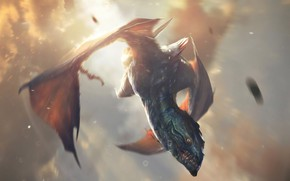 Picture the sky, dragon, The game, game, flies, The Elder Scrolls, Legends, The Elder Scrolls: Legends