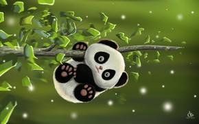 Picture the game, baby, art, Panda, Desk, Amol Shede, Cute Panda