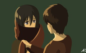 Picture children, anime, art, Shingeki no Kyojin, Eren Yeager, Attack of the titans, The invasion of …