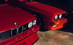 Picture BMW, Classic, E30, RED, Sight