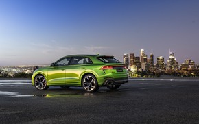 Picture sunset, the city, Audi, the evening, twilight, crossover, 2020, RS Q8