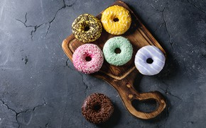 Picture donuts, dessert, Natasha Breen, with vanilla, cream