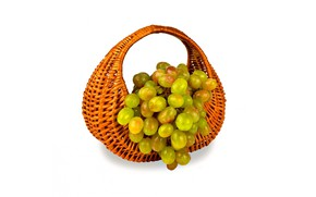 Picture grapes, bunch, basket