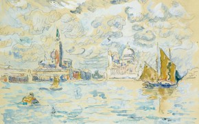 Picture figure, watercolor, 1908, VENICE, Paul Signac, Paul Signac