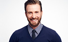 Picture look, pose, smile, beard, actor, Chris Evans, Chris Evans