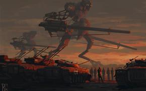 Picture Figure, Robots, Soldiers, Art, Fiction, Tanks, BMP, Boris Groh, by Boris Groh