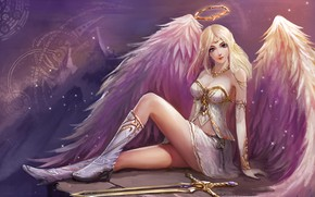 Picture girl, angel, League of Legends, League Of Legends