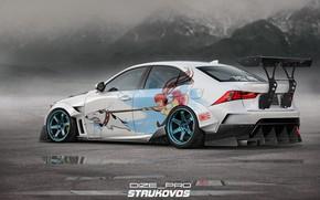 Picture Auto, Lexus, Machine, Tuning, Art, Rendering, Lexus IS, Dmitry Strukov, Dizepro, by Dmitry Strukov, Dize_pro