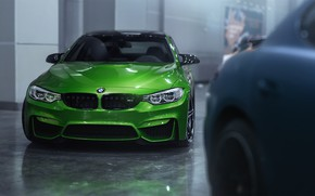 Picture Auto, BMW, Green, Machine, BMW M4, Mikhail Sharov, Transport & Vehicles, by Mikhail Sharov