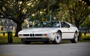 Picture white, coupe, BMW, BMW M1, E26, M1