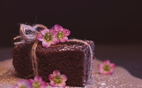 Picture decoration, cake, dessert, chocolate, powdered sugar