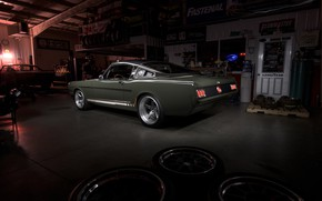 Picture Muscle, Ford Mustang, Fastback, Tuning, Garage, Espionage