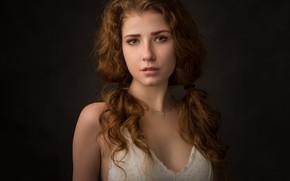 Picture portrait, curls, retouching, Fry Eugene