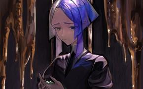 Picture sadness, girl, fragments, gold, House no Kuni, Euclase